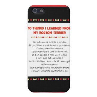 Funny Things I Learned From My Boston Terrier Case For iPhone 5