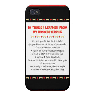 Funny Things I Learned From My Boston Terrier Cover For iPhone 4