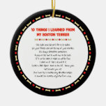 Funny Things I Learned From My Boston Terrier Christmas Ornament