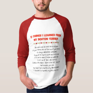 Funny Things I Learned From My Boston Terrier T-Shirt