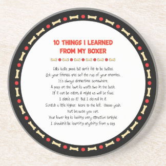 Funny Things I Learned From My Boxer Sandstone Coaster