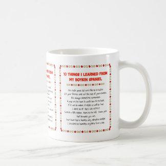 Funny Things I Learned From My Boykin Spaniel Coffee Mug