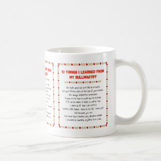 Funny Things I Learned From My Bullmastiff Coffee Mugs