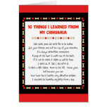 Funny Things I Learned From My Chihuahua Greeting Card