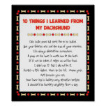 Funny Things I Learned From My Dachshund Poster