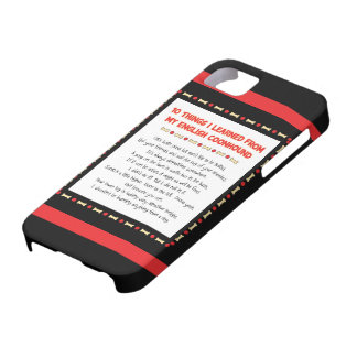 Funny Things I Learned From My English Coonhound iPhone SE/5/5s Case