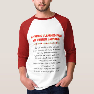 Funny Things I Learned From My Finnish Lapphund Tee Shirt