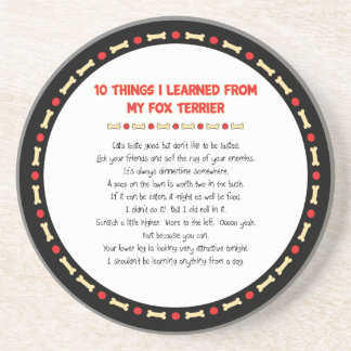 Funny Things I Learned From My Fox Terrier Drink Coasters