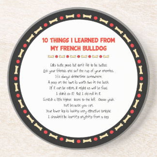 Funny Things I Learned From My French Bulldog Drink Coaster