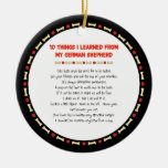 Funny Things I Learned From My German Shepherd Christmas Ornament