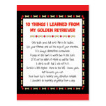 Funny Things I Learned From My Golden Retriever Postcard