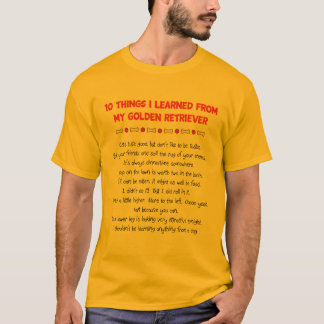 Funny Things I Learned From My Golden Retriever T-Shirt