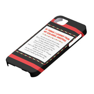 Funny Things I Learned From My Icelandic Sheepdog iPhone 5 Cover
