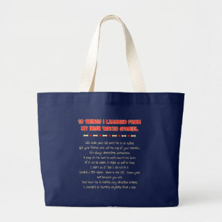 Funny Things I Learned From My Irish Water Spaniel Canvas Bag