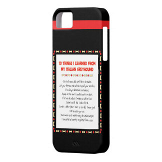 Funny Things I Learned From My Italian Greyhound iPhone SE/5/5s Case