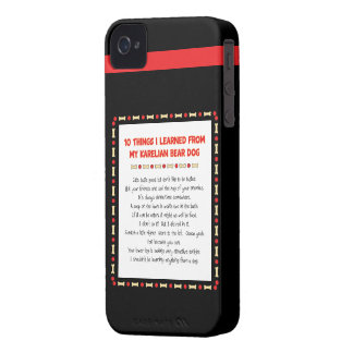 Funny Things I Learned From My Karelian Bear Dog Case-Mate iPhone 4 Case