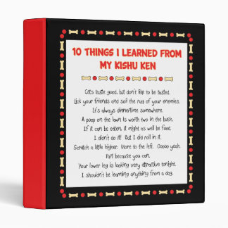 Funny Things I Learned From My Kishu Ken 3 Ring Binders