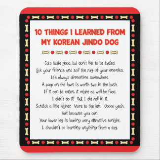 Funny Things I Learned From My Korean Jindo Dog Mouse Pad