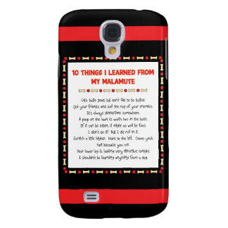 Funny Things I Learned From My Malamute Galaxy S4 Cover