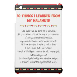 Funny Things I Learned From My Malamute Cover For The iPad Mini