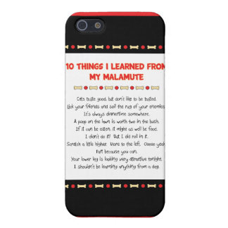 Funny Things I Learned From My Malamute iPhone 5 Cover