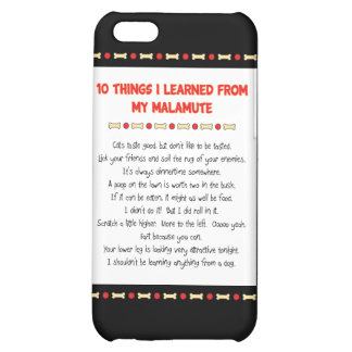 Funny Things I Learned From My Malamute Cover For iPhone 5C