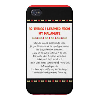 Funny Things I Learned From My Malamute Covers For iPhone 4