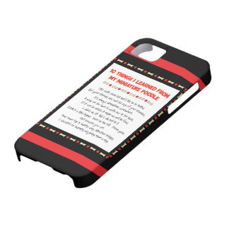 Funny Things I Learned From My Miniature Poodle iPhone SE/5/5s Case