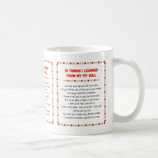 Funny Things I Learned From My Pit Bull Mug
