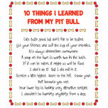 Funny Things I Learned From My Pit Bull Photo Cut Out