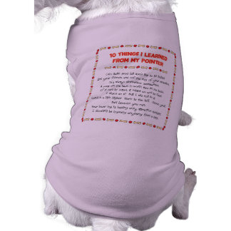 Funny Things I Learned From My Pointer Dog T-shirt