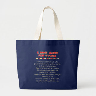 Funny Things I Learned From My Poodle Jumbo Tote Bag