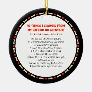 Funny Things I Learned From My Rafeiro do Alentejo Double-Sided Ceramic Round Christmas Ornament