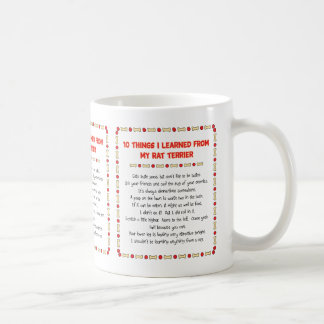 Funny Things I Learned From My Rat Terrier Coffee Mug