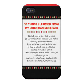 Funny Things I Learned From My Rhodesian Ridgeback iPhone 4/4S Cover