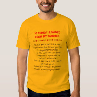 Funny Things I Learned From My Samoyed T-Shirt