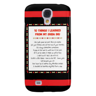 Funny Things I Learned From My Shiba Inu Galaxy S4 Case