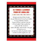 Funny Things I Learned From My Shiba Inu Postcard