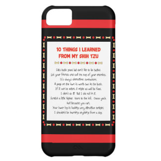 Funny Things I Learned From My Shih Tzu iPhone 5C Cases