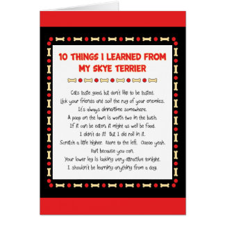 Funny Things I Learned From My Skye Terrier Greeting Cards