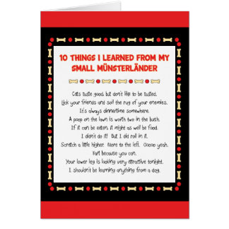 Funny Things I Learned From My Small Münsterländer Greeting Card