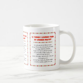 Funny Things I Learned From My Spanish Mastiff Classic White Coffee Mug