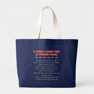 Funny Things I Learned From My Standard Poodle Jumbo Tote Bag