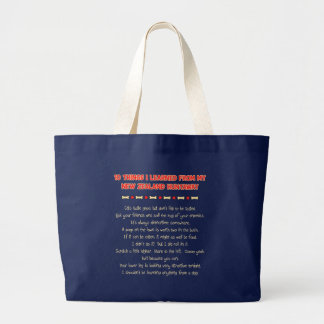 Funny Things I Learned From New Zealand Huntaway Canvas Bag
