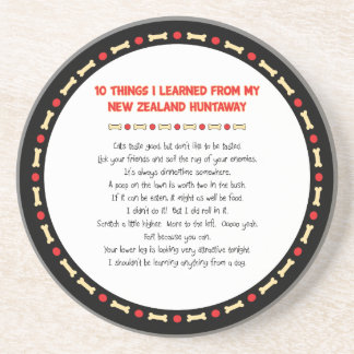 Funny Things I Learned From New Zealand Huntaway Drink Coasters