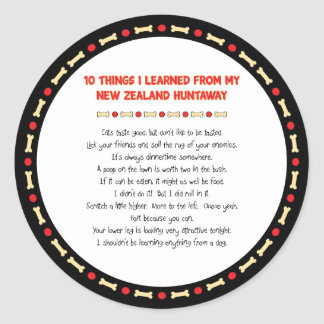 Funny Things I Learned From New Zealand Huntaway Stickers