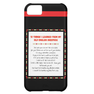 Funny Things I Learned From Old English Sheepdog Cover For iPhone 5C