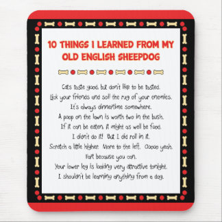 Funny Things I Learned From Old English Sheepdog Mouse Pad