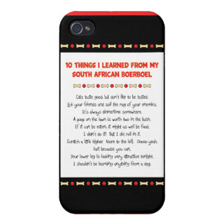 Funny Things I Learned From South African Boerboel Case For iPhone 4