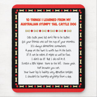Funny Things I Learned From Stumpy Tail Cattle Dog Mouse Pad